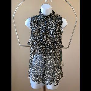 NWT Lauren Ralph Lauren 6 ruffled sleeveless top